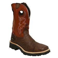 tony lama walnut elephant print 3r composition toe work boots