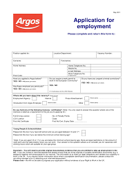 job application form templates in pdf word excel argos application for employment form