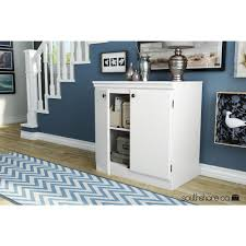 South Shore Morgan Pure White Storage Cabinet The Home Depot