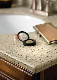 cashmere solid surface vanity top with bevel edge