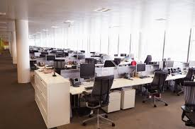 large office space. Large Open Plan Office Interior Without People Space V