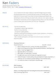 33 Sample Plumber Resume Template Template Gorgeous