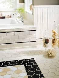 Fascinating Classic Tile Pattern Flooring For Interior Decoration :  Enchanting Image Of Bathroom Decoration Using Light