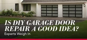 is diy garage door repair a good idea let the experts weigh in