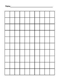 Blank 100 Square Chart 100 Chart Filled And Blank Preschool Charts Numbers