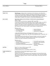 Hospitality Resume Objective Hospitality Management Resume Objective Therpgmovie 2