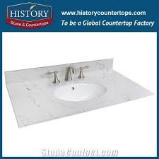 hot on manufacturer calacatta white nq5090 custom solid surface quartz engineered stone vanity top bathroom countertops