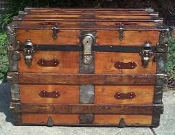 red all wood flat top victorian military retirement shadow box idea antique pirate chest trunk 556