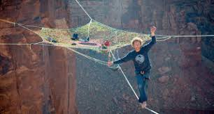 Highliners from around the world gathered last Thanksgiving in Moab, Utah,  and built this insane pentagonal hammock suspended in the middle of a ...