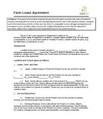 Hunting Rental And Lease Form Delectable Farm Lease Agreement Template