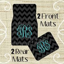 chevron car floor mats. Custom Personalized Set Of Car Floor Mats - Front And Or Rear Back, Monogrammed Chevron R
