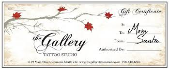 it s the best christmas gift ever the gallery tattoo studio this year give the gift that keeps on giving a gallery tattoo studio gift certificate give it to that special tattooed someone so they can come in and get