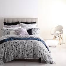monika charcoal quilt cover set by royal doulton