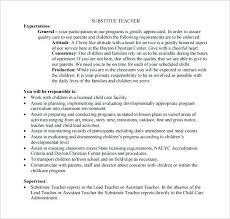 Teacher Responsibilities Resume Substitute Teacher Job Description ...