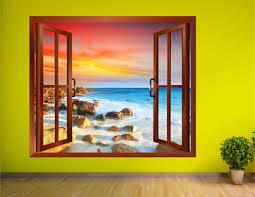 3d wall stickers uk wall murals ideas regarding most recently released 3d wall art window