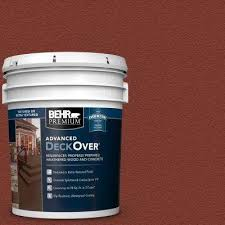 Home Depot Behr Wood Stain Color Chart 5 Gal Sc 330 Redwood Textured Solid Color Exterior Wood And Concrete Coating