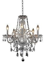 Elegant Lighting Inc Elegant Lighting 7835d20c Rc Princeton 22 Inch High 5 Light Chandelier Chrome Finish With Crystal Clear Royal Cut Rc Crystal