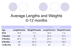 2 Month Old Weight Chart Human Development Chapter 7 Physical Development Of Infants