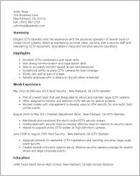 skills and ability resumes 1 cctv operator resume templates try them now myperfectresume
