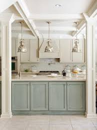 Rustic Kitchen With Pendant Lighting Over Island