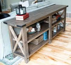 sofa table with storage. Ana White | Build A Rustic X Coffee Table And Sofa Table--make Smaller For With Storage