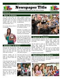 Classroom Newspaper Template Classroom Newspaper Templates