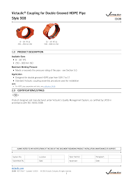 Hdpe Pipe Support Design 19 09 Victaulic Coupling For Double Grooved Hdpe Pipe Style