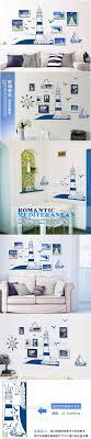 Lighthouse Bedroom Decor Blue Seaside Lighthouse Vinyl Wall Stickers For Kids Bedroom
