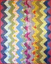 Quirky Colored Chevron Stripe Quilt | FaveQuilts.com & Quirky Colored Chevron Stripe Quilt Adamdwight.com