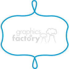 Blue Lines Frame Swirls Boutique Design Border 13 Clipart Royalty Free Clipart 392484