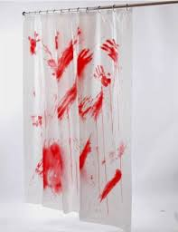 funny shower curtain. Bloody Shower Curtain ($5.99) Funny A