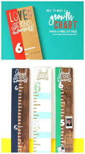Free Cricut Growth Chart How To Make A Growth Chart Free Svg Files Silhouette And