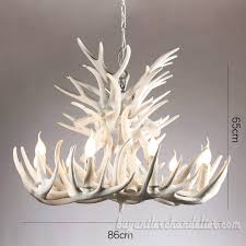 18 cast pure white deer antler chandelier 9 9 cascade three tiers ceiling lights home