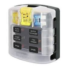 marine fuse holders fuse blocks blue sea systems st blade fuse block out negative bus