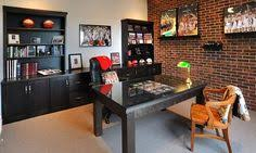 sports office decor. Large Pictures On Floating Shelves Sports Office Decor Pinterest