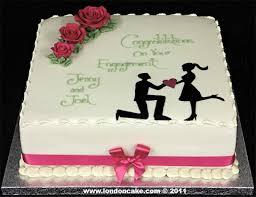 London Cake Engagement Cakes