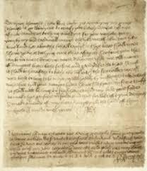 Love letter of King Henry VIII to Anne Boleyn