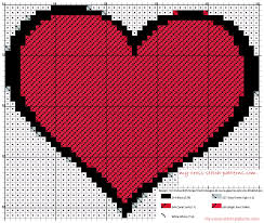 Free Cross Stitch Pattern Maker Beauteous A Simple Hearth Cross Stitch Pattern Free Made With Software App
