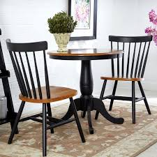 international concepts copenhagen cherry black 3 piece dining set with round dining table