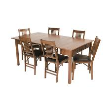 Extending Outdoor Dining Table Shop Stakmore Oak Rectangular Extending Dining Table At Lowes