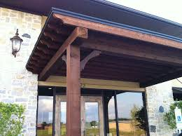 van alstyne flat stylish patio cover serves as business entrance awning