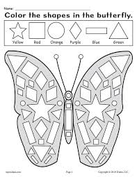 Do you know where butterflies come from? Printable Butterfly Shapes Coloring Pages Supplyme