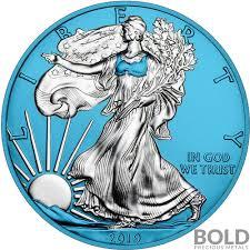 2019 Space Blue American Silver Eagle 1 Oz