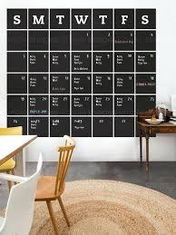 chalkboard wall calendar chalkboard wall calendar blackboard calendar wall decal calendar chalkboard calendar wall sticker extra large by simple shapes