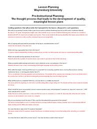 edu lesson plan essays reading comprehension