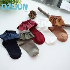One Pairs <b>Fashion Baby Girls</b> Kids Faux Suede <b>Lace</b> Cotton Socks ...