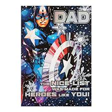 Christmas Card Mailing List Software Amazon Com Hallmark Medium Captain America Dad Epic Time