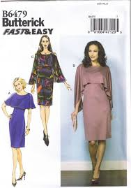 Cape Sewing Pattern Custom Butterick B48 4848 Sewing Pattern Ladies Pullover Cape Dress 48