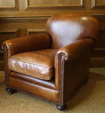 classic 1930s leather club chair
