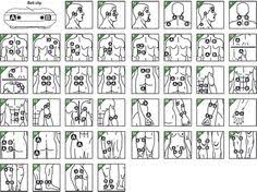 Tens And Ems Device Placement Charts Tens Unit Placement